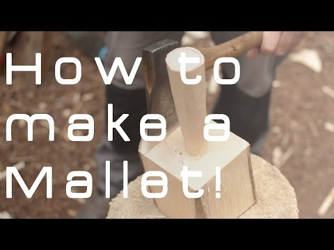 How to make a mallet from a single piece of wood