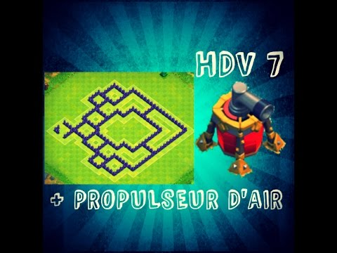 Clash of Clans ~ (New Update) HDV 7 Propulseur d'Air Defense Base BEST TH7 Air Sweeper 2015