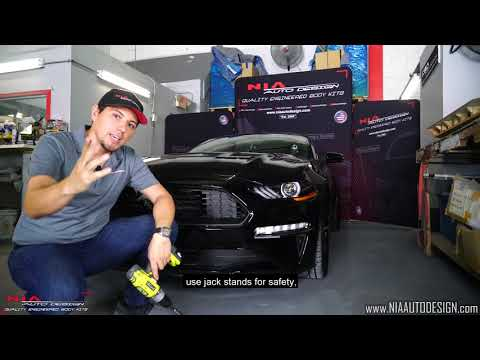 Ford Mustang GT Rear Spat lip body kit ground effects DIY Install