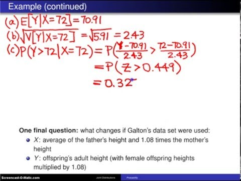 Bivariate normal distribution -- Example 1