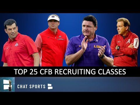 Top 25 2020 Recruiting Classes Before College Football National Signing Day