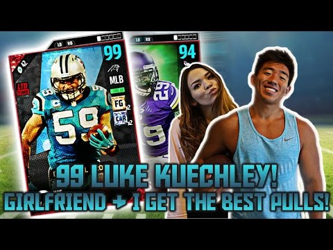 99 OVR LUKE KUECHLY W/ CHEM! GIRLFRIEND & I GET THE BEST PULL EVER! MADDEN 17 ULTIMATE TEAM