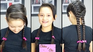 Sporty French Braids| Hairstyles for School | Sport Hairstyles | Cute Girly Hairstyles