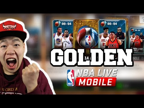 Massive Golden Playoff Pack Opening - Insane Double Elite Pull - Nba Live Mobile