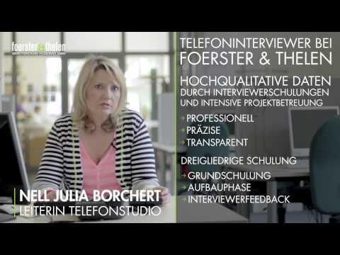 Telefoninterviewer bei Foerster & Thelen - ein Nebenjob im Bochum Telefonstudio