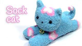 DIY crafts: SOCK CAT - Innova Crafts