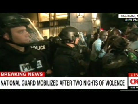 Another Night Of Large Police Brutality Protests In Charlotte North Carolina