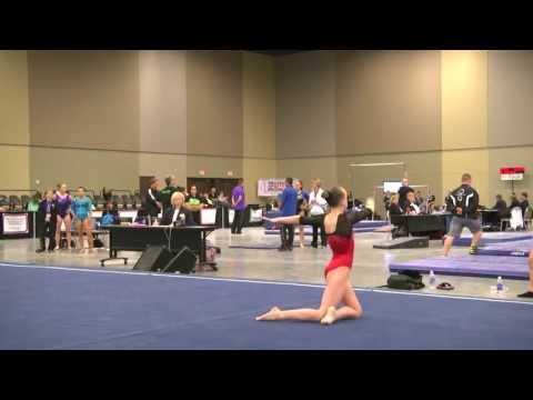 Abby Johnston Level 10 FX Region 8 Jr A 2013