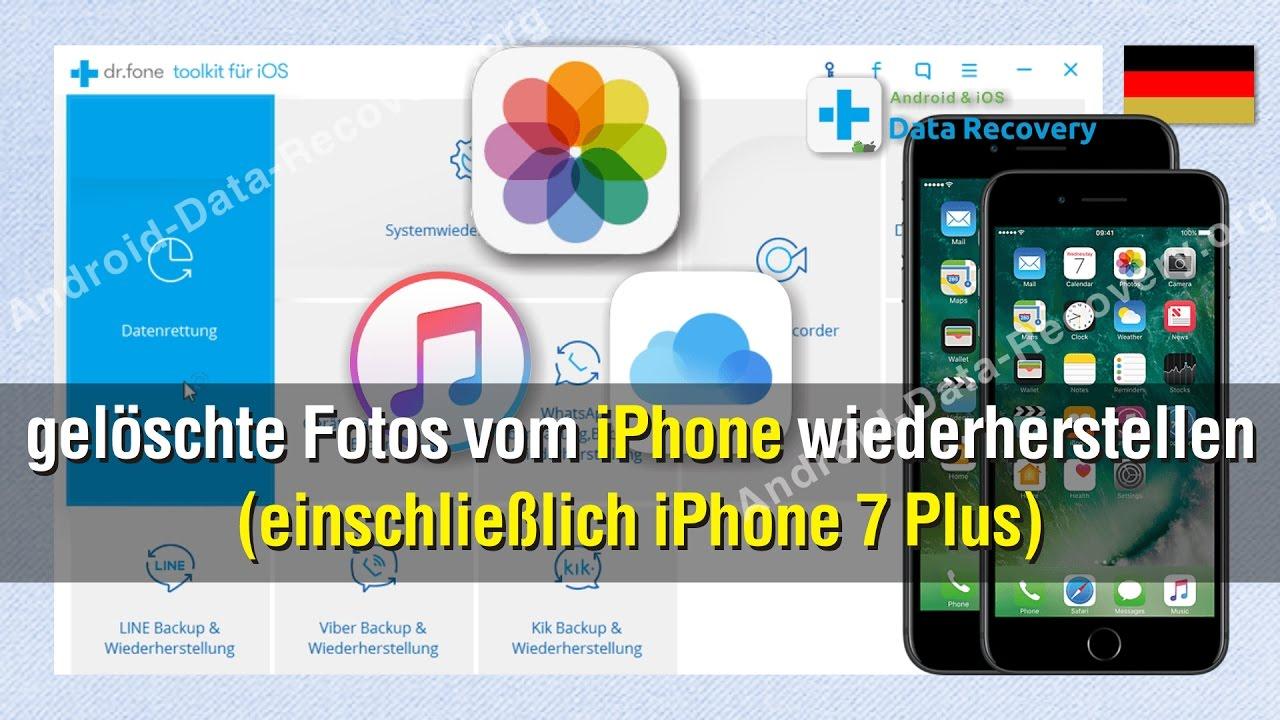 Wie Sie Geloschte Fotos Vom Iphone Wiederherstellen Einschliesslich Iphone 7 Plus Youtube