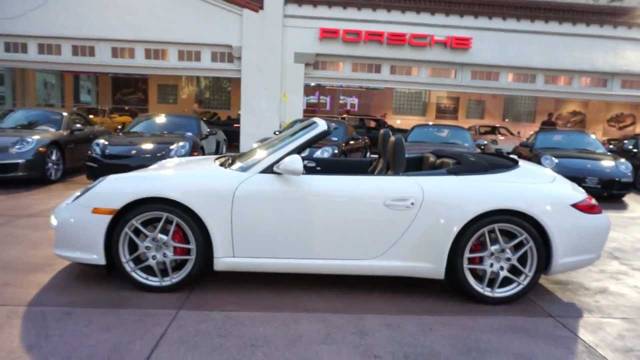 Carrera S Cabriolet White Black   Pdk In Beverly Hills Los Angeles Youtube
