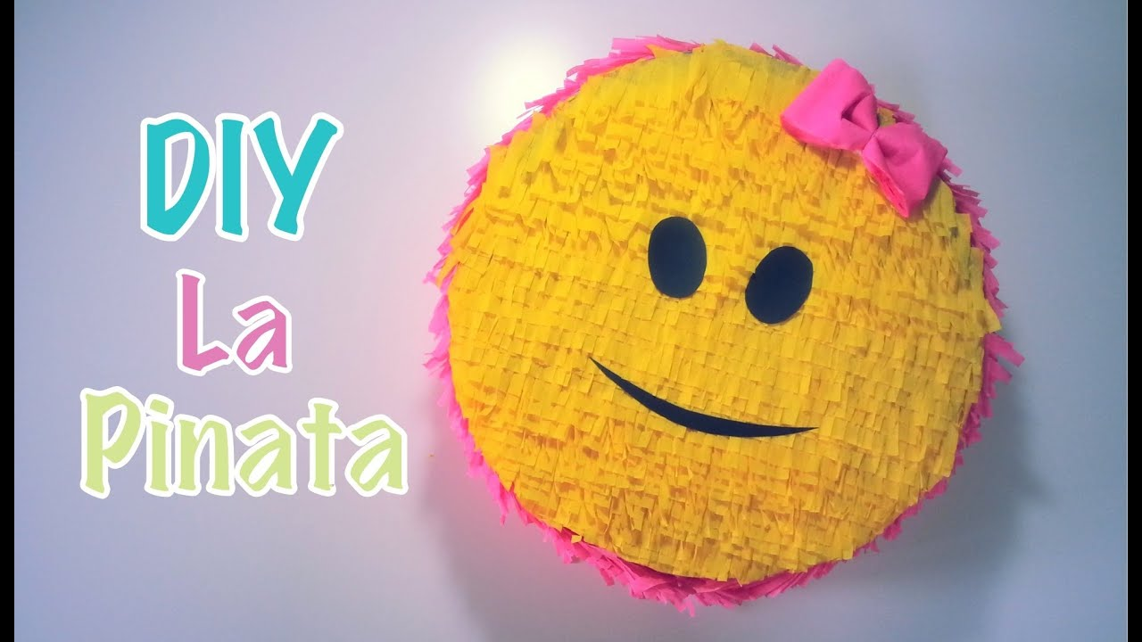 Diy N 3 Serie Deco Bapteme Anniversaire La Pinata Smiley Youtube