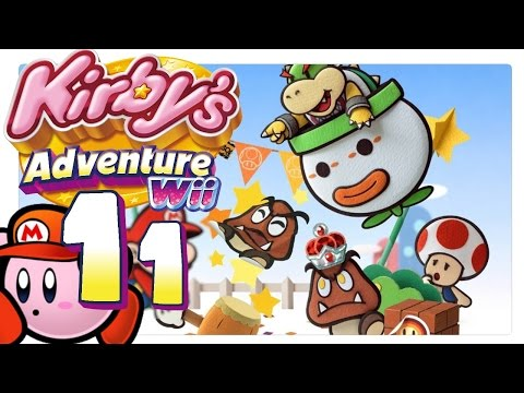 Let's Play Kirby's Adventure Wii #11: Paper-Mario [HD] [GER]