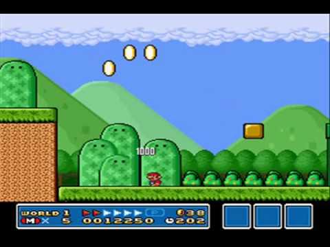 SMB3 for Super Mario All-Stars Random Hacked Ports - Grass Land Garden