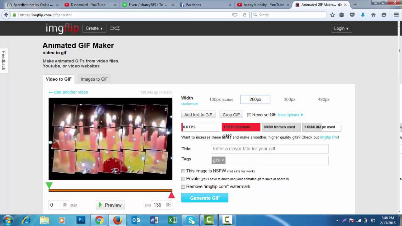 How to make a gif video on facebook
