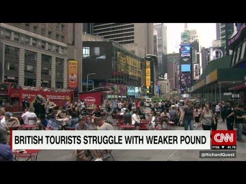 British tourists struggle with weaker pound