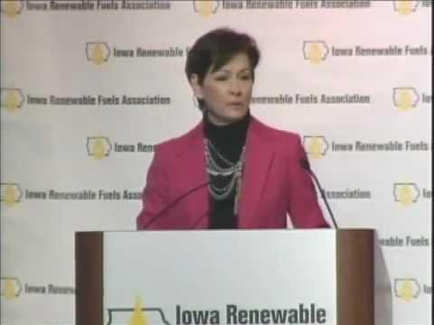 Iowa Lt. Governor Kim Reynolds Speaking at the 2013 Iowa Renewable Fuels Summit