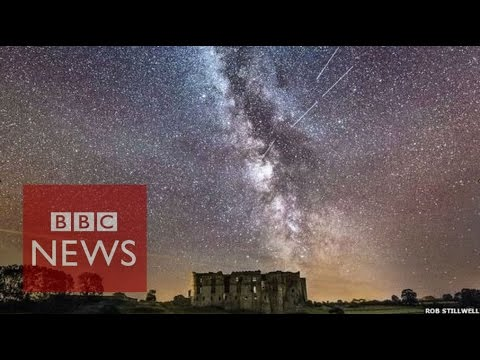 Perseid meteor shower photos in 60 seconds - BBC News