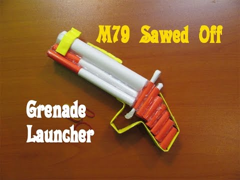 How to Make a Paper M79 Sawed Off Grenade Launcher - Easy Tutorials