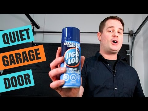 How To Lubricate Your Garage Door !! (QUICK & EASY)