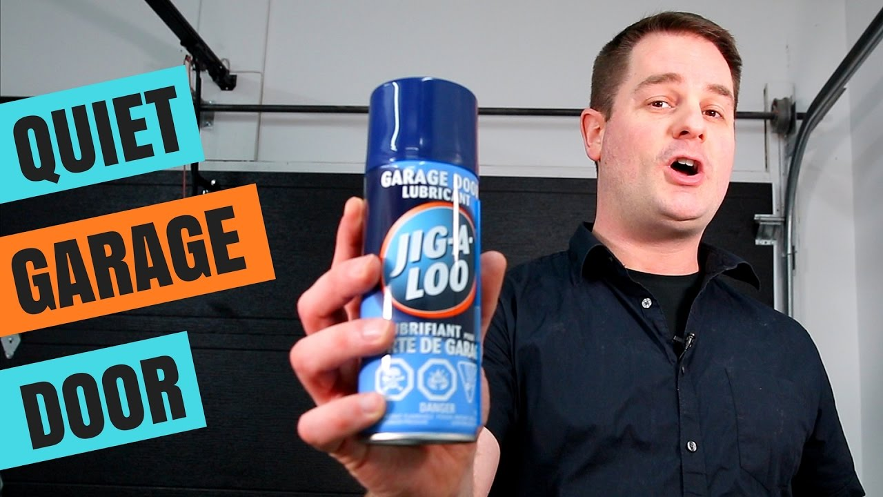 squeaky garage doorHow To Lubricate Your Garage Door  QUICK  EASY  YouTube