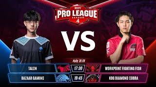 TLN vs WPE | BZ vs KOG - Tuần 8 - RPL Thái Lan Mùa 4 - Garena Liên Quân Mobile
