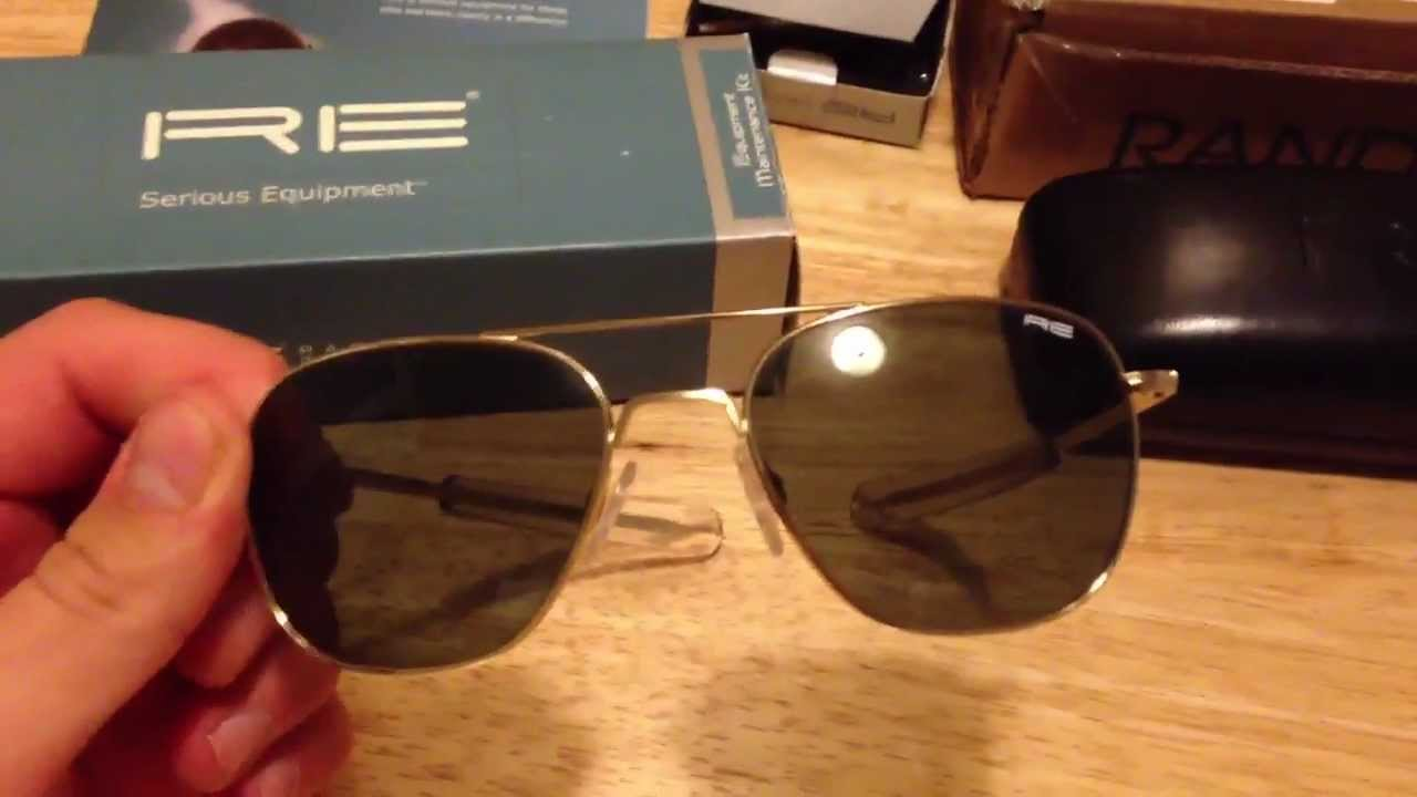 536ca559ea Randolph Engineering Aviator Sunglasses Unboxing - YouTube