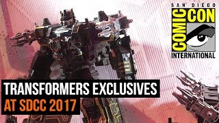 Transformers exclusives at SDCC