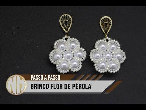 NM Bijoux - Brinco Flor de Pérolas -...