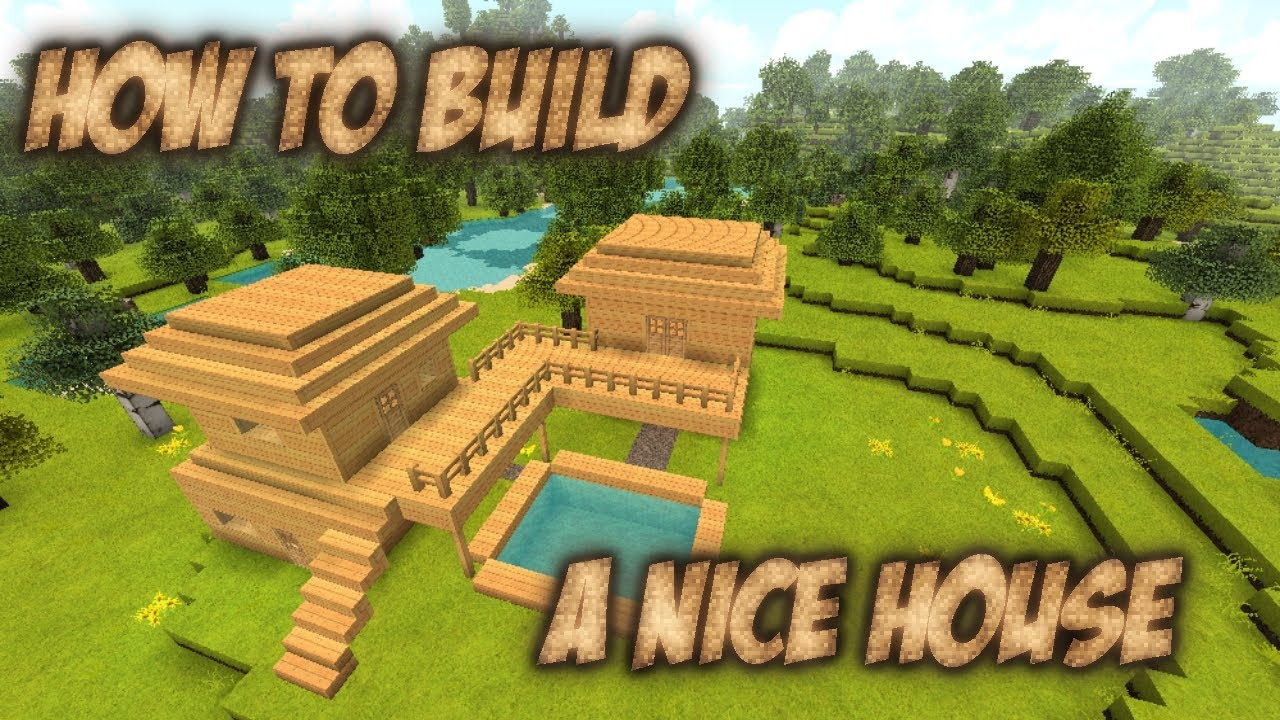 How to build 12  A nice house in Minecraft  YouTube