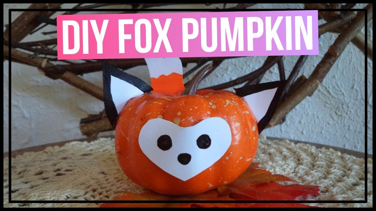 Cute diy fox pumpkin 🎃 how to make a fox pumpkin diy fall room