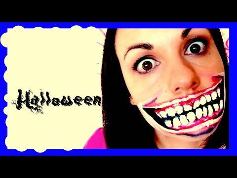 easy makeup for Halloween, terrifying big smile | Isa ❤️ thumbnail