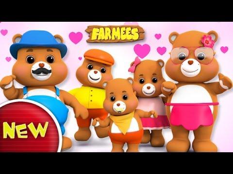 Teddy Bear Finger Family   Teddy Bear Turn Around   Nursery Rhymes   Kids songs by Farmees