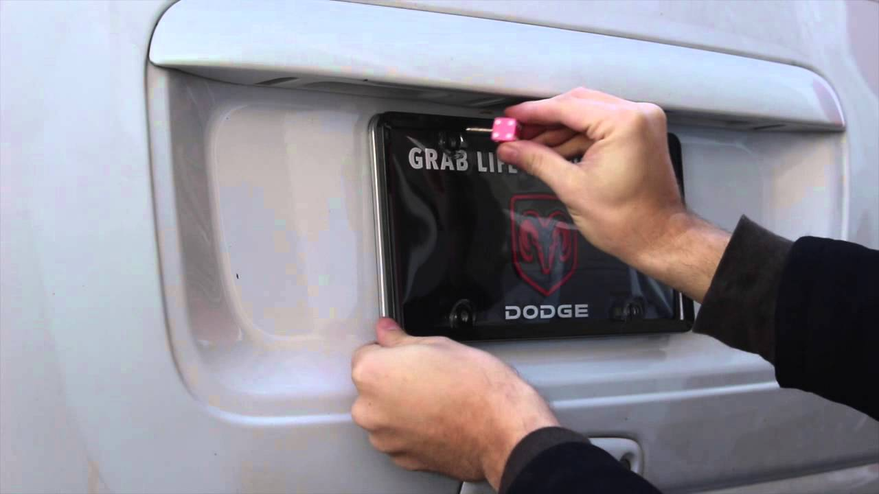 How to install license plate bolts - YouTube
