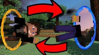 Villámgyors utazás! | Portal Gun MOD! | Minecraft |