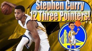nba 2k16 moments stephen curry 12 three pointers vs okc thunder