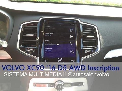 VOLVO S90/V90/XC90 '17 || Sist. Multimedia (Sensus + Apple CarPlay + Panel Instrumentos)
