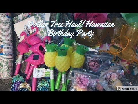 Dollar Tree Haul-Hawaiian Theme Birthday Party!
