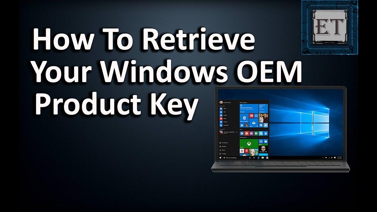 lost oem product key windows 7