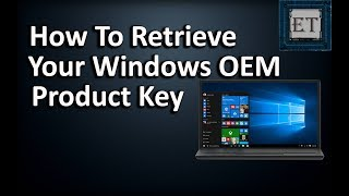 An Easy Way To Retrieve Your OEM Windows Product Key From BIOS