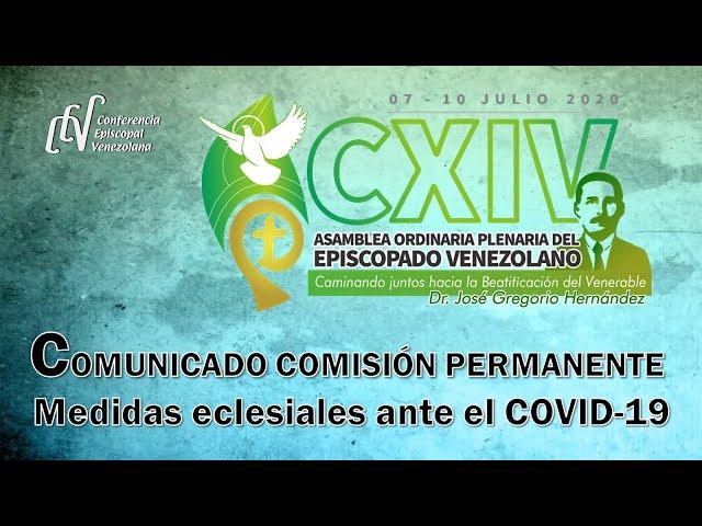 COMUNICADO COMISIÓN PERMANENTE: MEDIDAS ECLESIALES ANTE EL COVID-19.