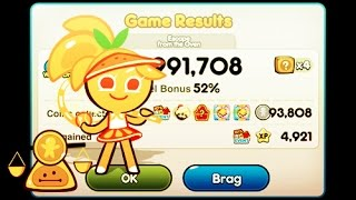 Line Cookie Run - Coin Farming With Orange (93,808 Coins)