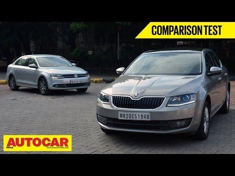 2013 Skoda Octavia vs Volkswagen Jetta | Comparison Test | Autocar India