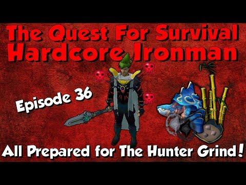 Hardcore Ironman! Big Hunter & Arc Progress! [Runescape 3] Episode #36