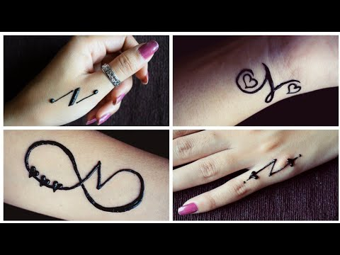 """New """"N"""" letter mehndi tattoos 