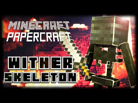 How to Make a Minecraft Papercraft Wither Skeleton