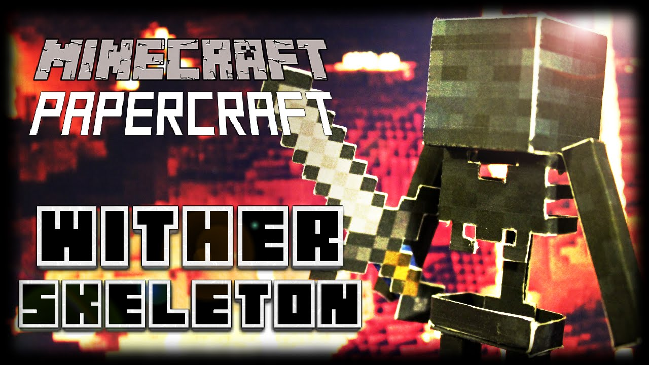 Papercraft How to Make a Minecraft Papercraft Wither Skeleton