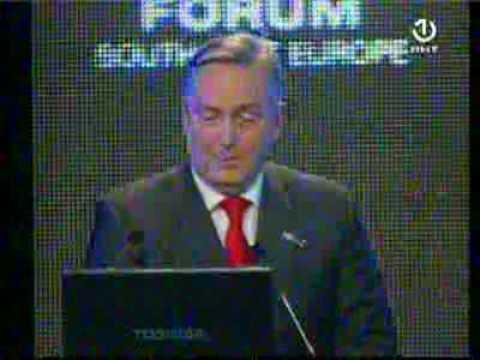 BHT Regionalni ekonomski forum JI Evrope 2009 Zlatko Lagumdzija 2. dio.flv
