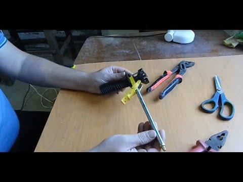 Как разобрать пистолет для пены