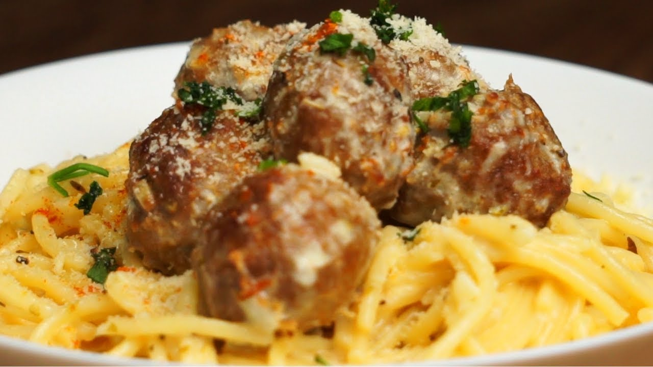 Download Spaghetti Meatball Carbonara   Full Recipe