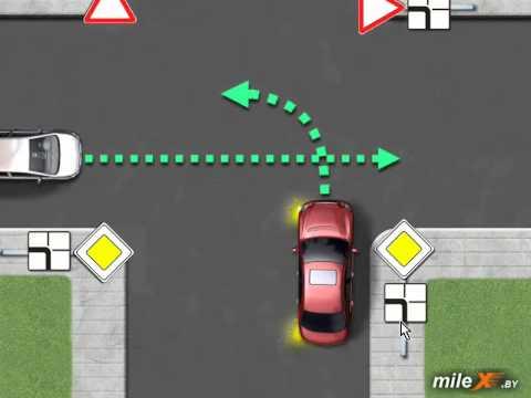 ПДД: Проезд перекрестков.